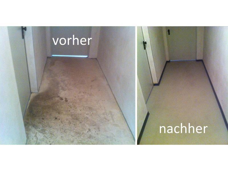 Neue Bodenbeschichtung in Keller in Forchheim